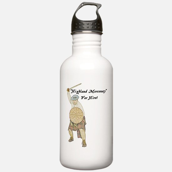 highland-mercenary001b Water Bottle