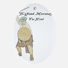 highland-mercenary001b1 Oval Ornament
