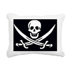 Pirate Flag Jack Rackham Rectangular Canvas Pillow