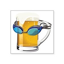 "beer-goggles Square Sticker 3"" x 3"""