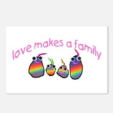 Love Makes A Family Postcards (Package of 8)