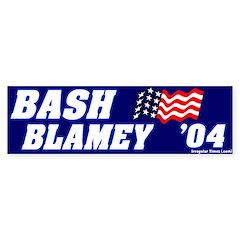 Mock Bash Blamey Bumper Bumper Sticker