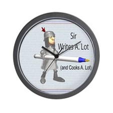 Sir Writes & Cooks A. Lot Wall Clock