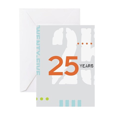 Anniversary Card: 25 Years Greeting Cards