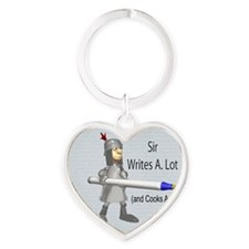 Sir Writes & Cooks A. Lot Heart Keychain