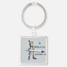 Sir Writes & Cooks A. Lot Square Keychain