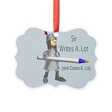 Sir Writes & Cooks A. Lot Ornament