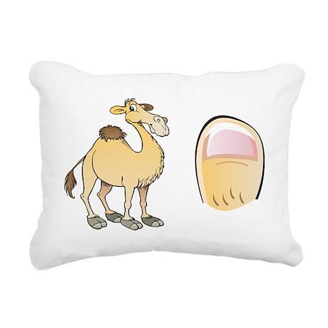 camel-toe Rectangular Canvas Pillow