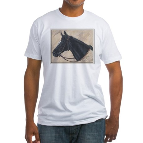 Sunday Silence Fitted T-Shirt