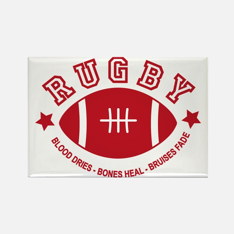 Rugby Rectangle Magnet