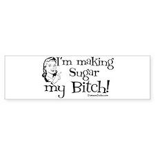 sugarbitch_black Bumper Bumper Sticker