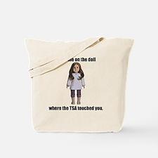 TSA_Doll_Transparent Tote Bag