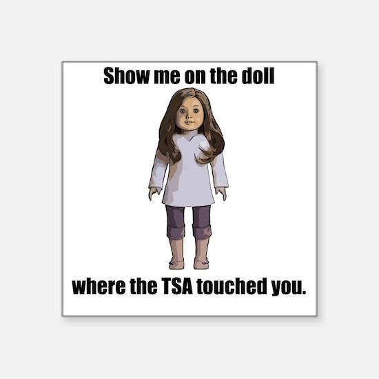 "TSA_Doll_Transparent Square Sticker 3"" x 3"""