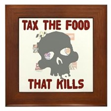 TaxtheFood2 Framed Tile