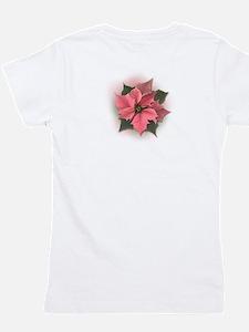 Pink Poinsettia Girl's Tee