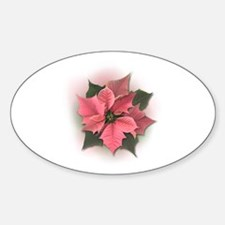 Pink Poinsettia Decal
