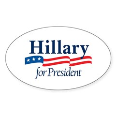 HILLARY 2008 Oval Decal