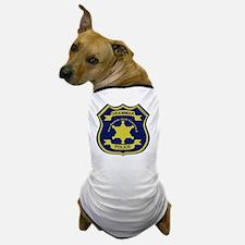 GrammarPoliceGoldAndNavyBlueFront Dog T-Shirt