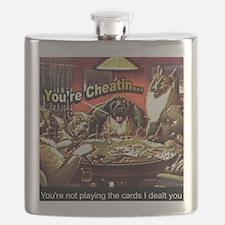 YoureCheatin12x12 Flask