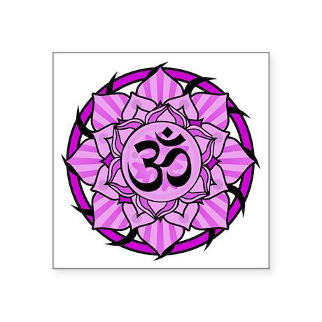 Aum Lotus Mandala (Purple) Sticker