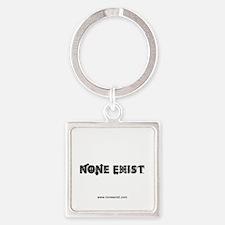 button-none-exist-classic Square Keychain
