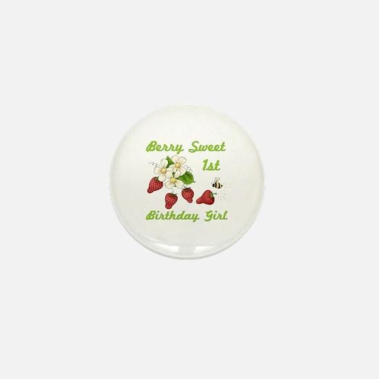 Berry Sweet 1st Birthday Mini Button