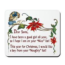 naughty boys for Christmas Mousepad