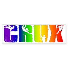 CRUXrainbowtranspbg Bumper Sticker