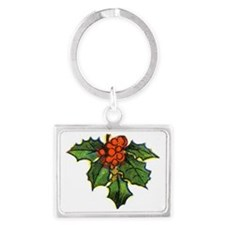 holly1 Landscape Keychain