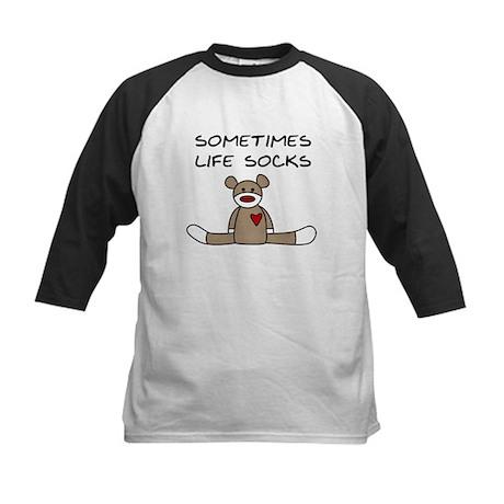 Sock Monkey Humor Kids Baseball Jersey