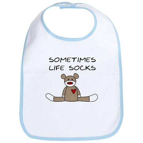 Sock Monkey Humor Bib