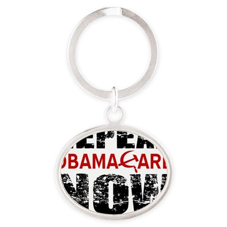 REPEAL ObamaCare Oval Keychain