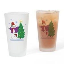 Country Snowman Drinking Glass