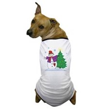 Country Snowman Dog T-Shirt