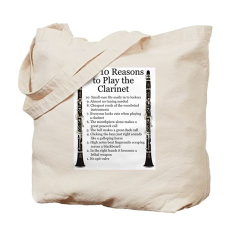 Clarinet Top 10 Tote Bag