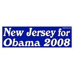 New Jersey for Obama 2008 bumper sticker