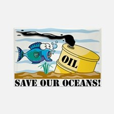 Save Our Oceans Rectangle Magnet