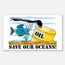 Save Our Oceans Rectangle Decal