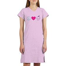Peace Love Cupcakes Women's Nightshirt