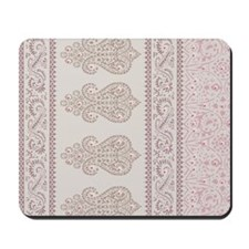 Cream Ethnic Indian Paisley Mousepad