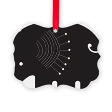 Black Elephant Ornament