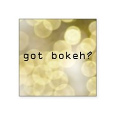 "gbokeh4 Square Sticker 3"" x 3"""