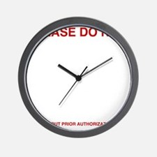 Please-do-not Wall Clock