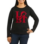LGBT Red Pop Women's Long Sleeve Dark T-Shirt