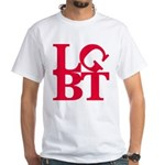 LGBT Red Pop White T-Shirt