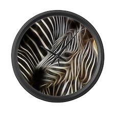 Zebra Love Large Wall Clock