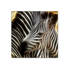 "Zebra Love Square Sticker 3"" x 3"""