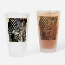 Zebra Love Drinking Glass