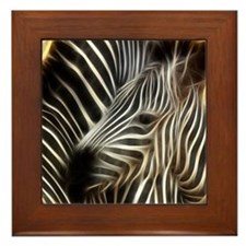 Zebra Love Framed Tile