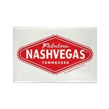 Fabulous NASHVEGAS TM Logo Rectangle Magnet
